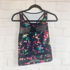 Fabletics Print Mesh Racerback Workout Crop Top XL
